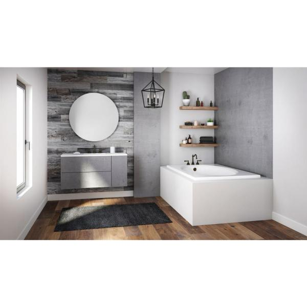 Jacuzzi Projecta 60 In X 42 In Acrylic Rectangular Drop In Whirlpool Bathtub In White R4d6042wrl1xxw The Home Depot