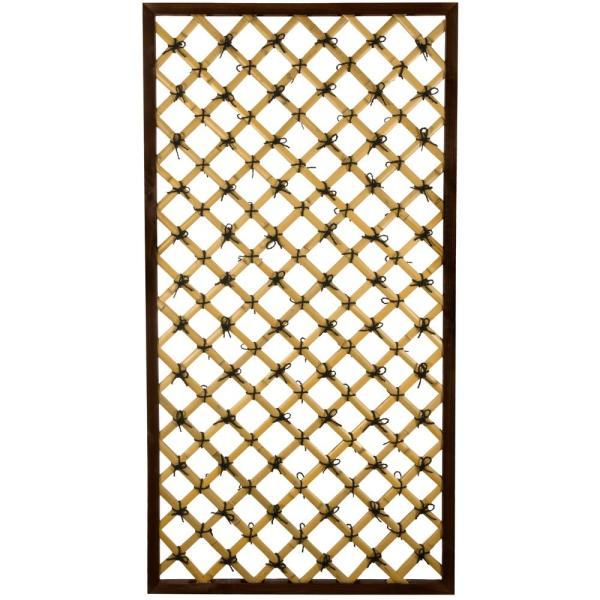 71 in. Bamboo Garden Fence