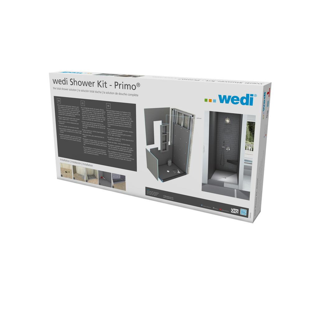 Wedi Fundo Primo 3 ft by 3 ft Waterproof Shower Kit