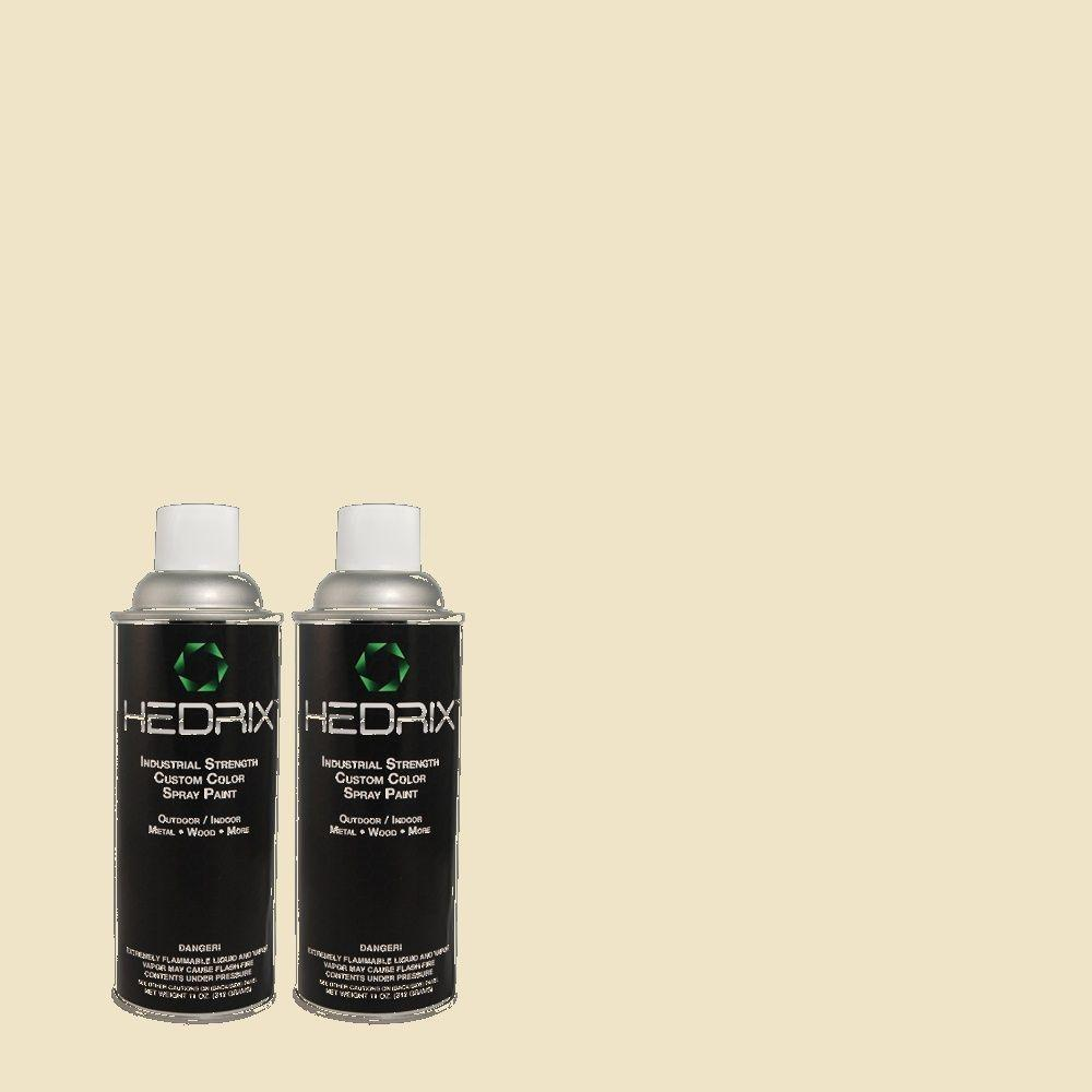 Hedrix 11 oz. Match of PPU8-14 Silky Bamboo Flat Custom Spray Paint (8-Pack)