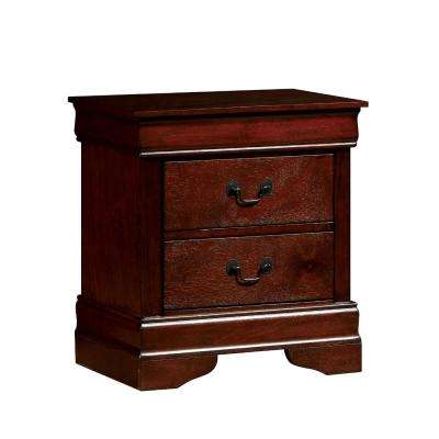 Contemporary Cherry Style Night Stand