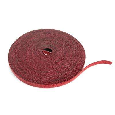 Cable Management Solutions 75 ft. VELCRO Brand Bulk Roll, Maroon