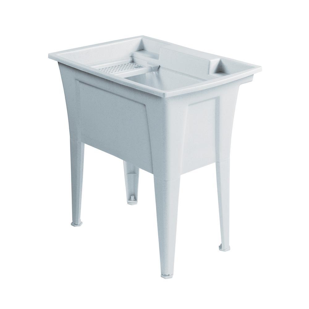32 in. x 22 in. Polypropylene Granite Laundry Sink