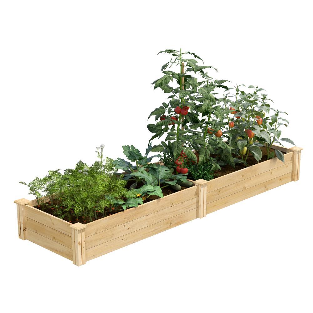 2 ft. x 8 ft. x 10.5 in. Original Cedar Raised Garden Bed