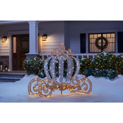4 ft. LED Twinkling Carriage