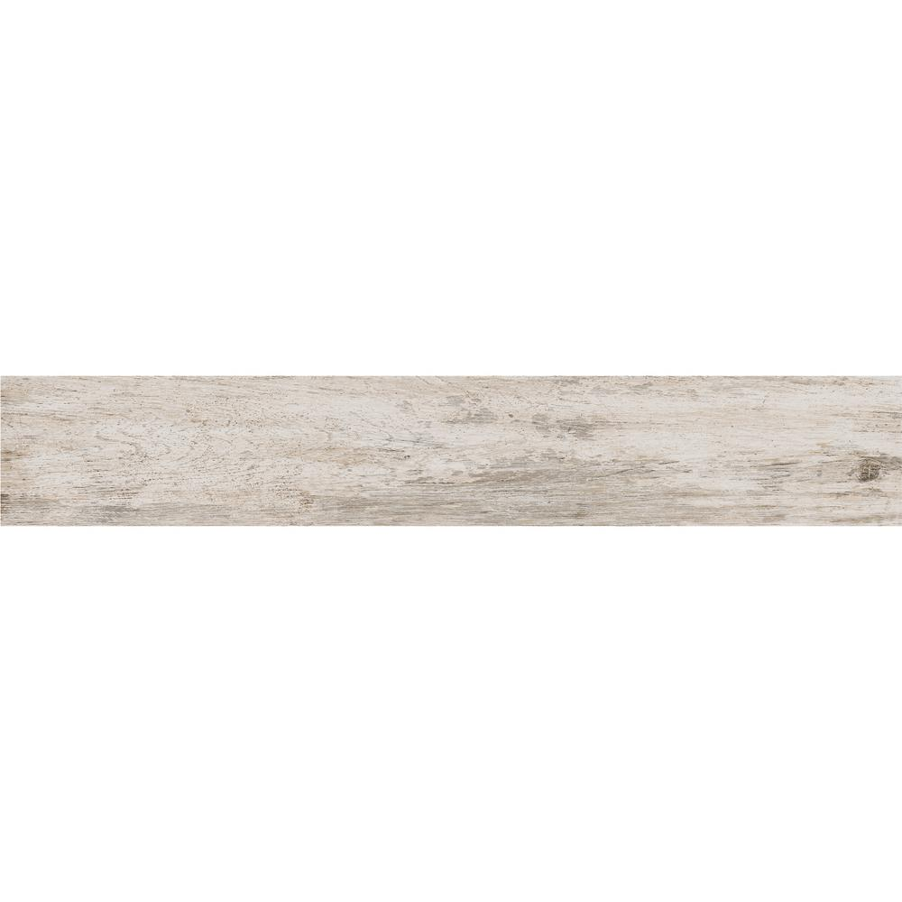 Daltile Rustic Bridge White Wash 8 In X 48 Color Body Porcelain Floor And Wall Tile 15 18 Sq Ft Case