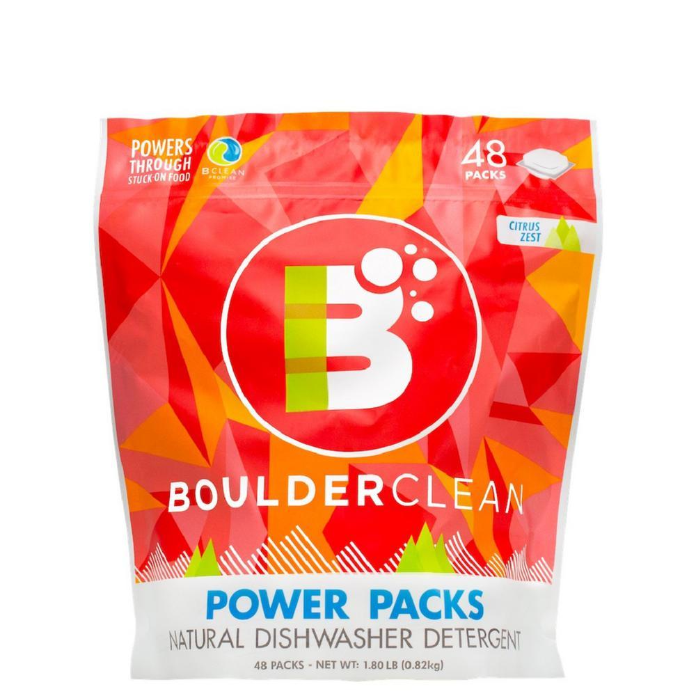 Clean Natural Dishwasher Detergent Power Packs Citrus Zest (48-Count)