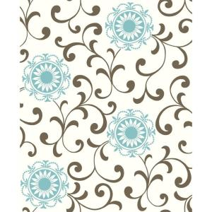 York Wallcoverings Medallion with Scroll Wallpaper by York Wallcoverings