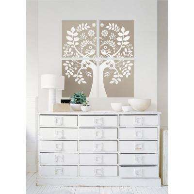 Neutral Love Birds Wall Decal