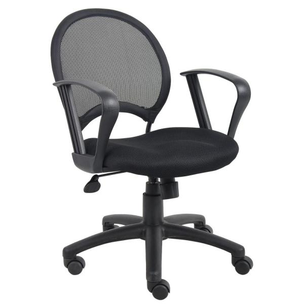 WorkPro Mesh Task Chair Black Mesh Fabric Loop Arms Pneumatic Lift