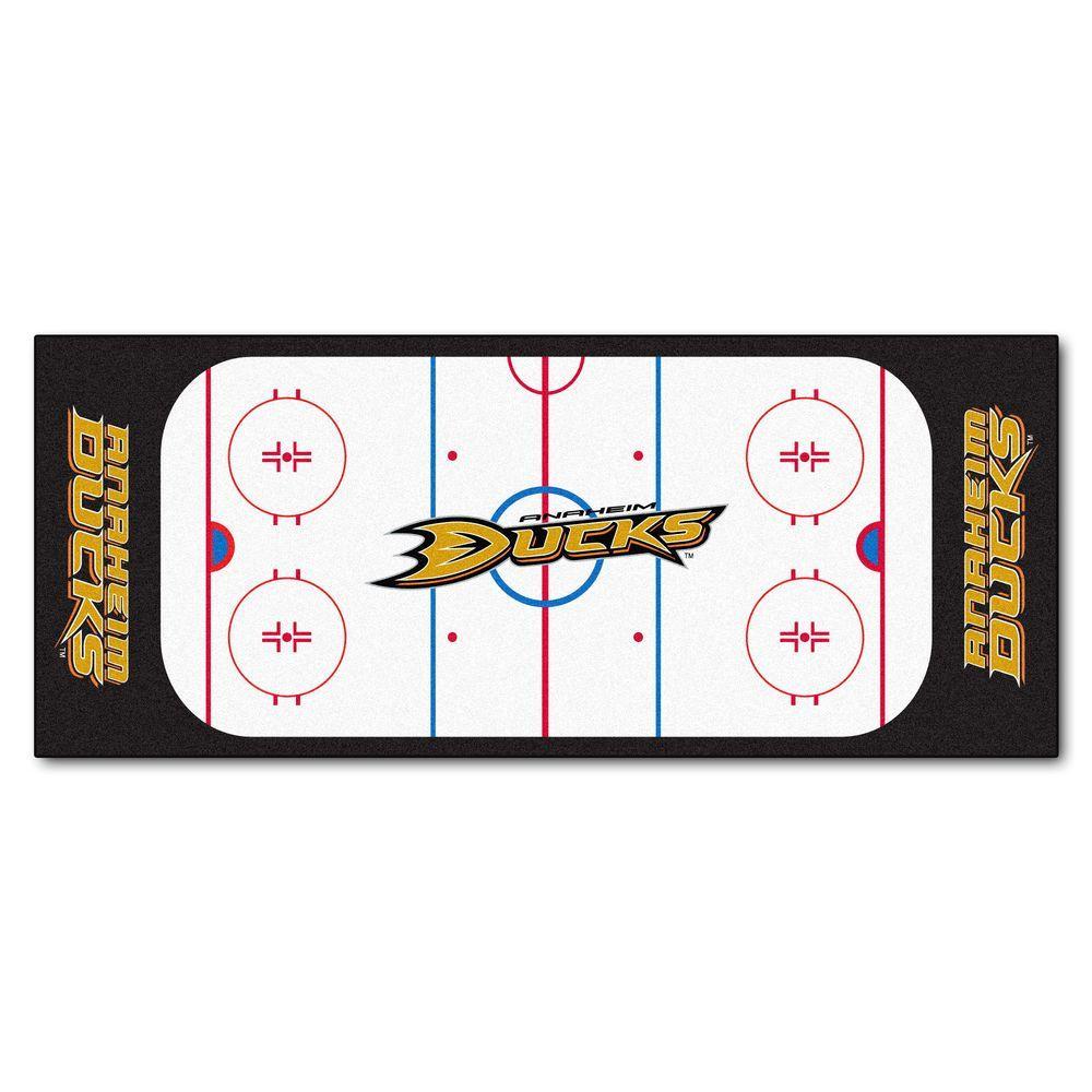Anaheim Ducks 3 ft. x 6 ft. Rink Rug Runner Rug