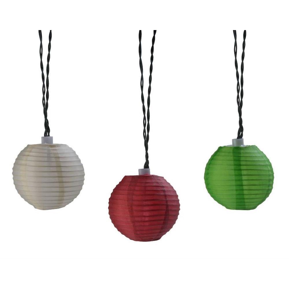 10-Light 15 ft. Integrated LED Oriental Lantern String Lights