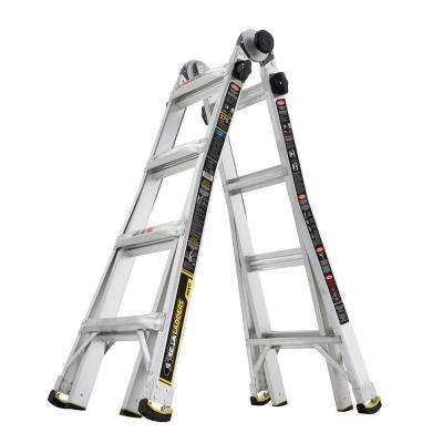17 ft. MPX Aluminum Telescoping Multi-Position Ladder with 375 lb. Load Capacity Type IAA Duty Rating