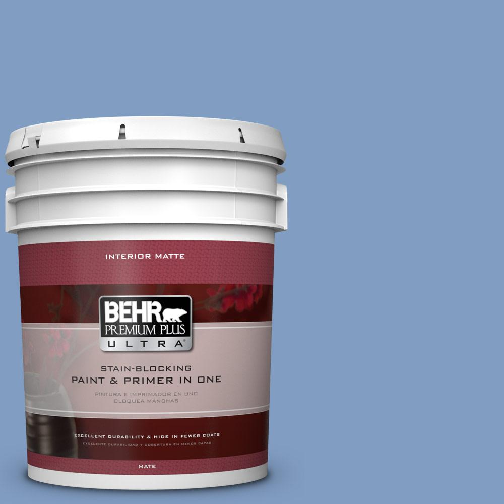 BEHR Premium Plus Ultra 5 gal. #M530-4 Washed Denim Matte Interior Paint