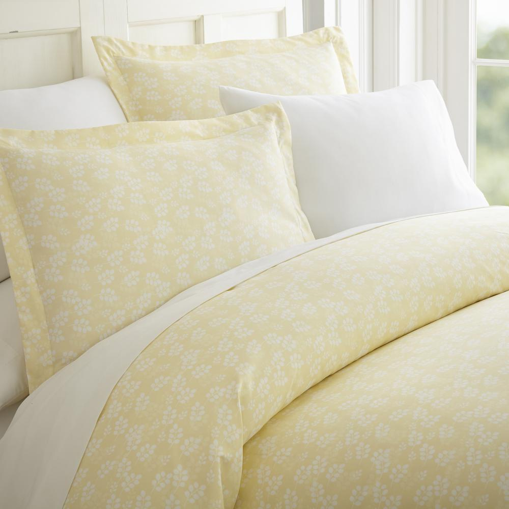 Wheat Field Patterned Performance Ivory King 3-Piece Duvet Cover Set