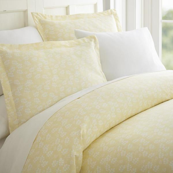 Becky Cameron Wheat Field Patterned Performance Ivory Queen 3-Piece Duvet Cover Set