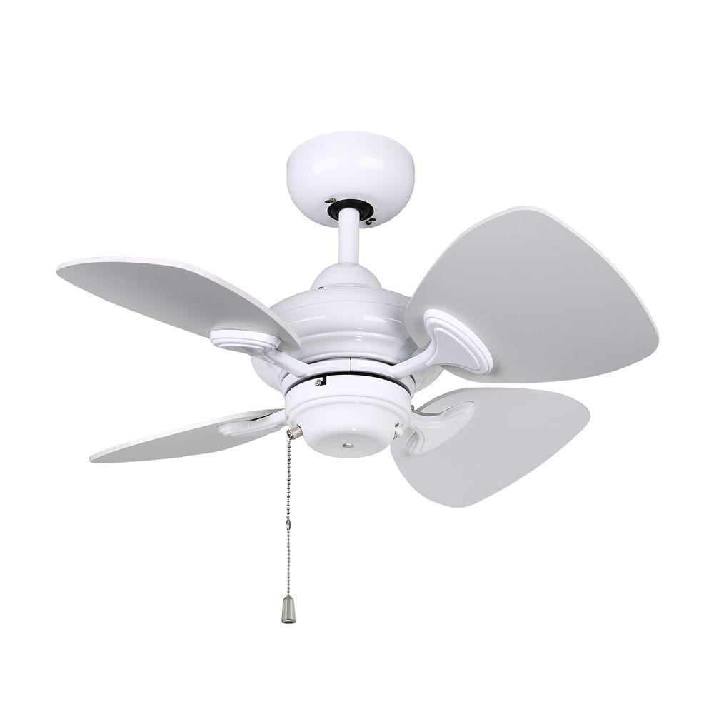 Designers Choice Collection Aires 24 in. White Ceiling Fan