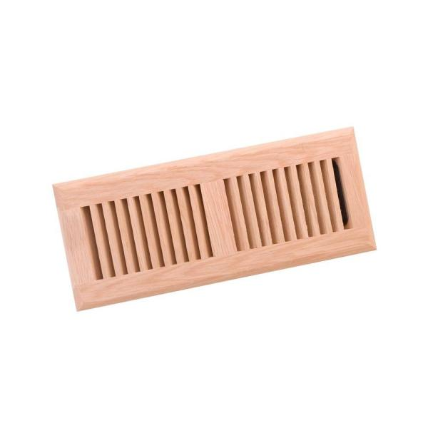 Zoroufy 4 In X 10 In Wood White Oak Unfinished Flush Mount Vent Register 20303 The Home Depot