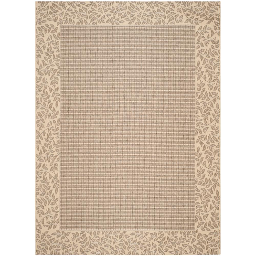 Safavieh Courtyard Brown/Natural 9 ft. x 12 ft. Indoor/Outdoor Area Rug