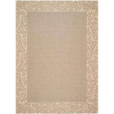 Courtyard Brown/Natural 9 ft. x 12 ft. Indoor/Outdoor Area Rug