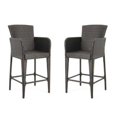 Amazing Anaya Wicker Outdoor Bar Stool 2 Pack Gmtry Best Dining Table And Chair Ideas Images Gmtryco