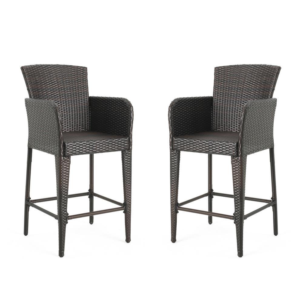 Strange Anaya Wicker Outdoor Bar Stool 2 Pack Unemploymentrelief Wooden Chair Designs For Living Room Unemploymentrelieforg