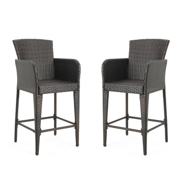 Anaya Wicker Outdoor Bar Stool (2-Pack)