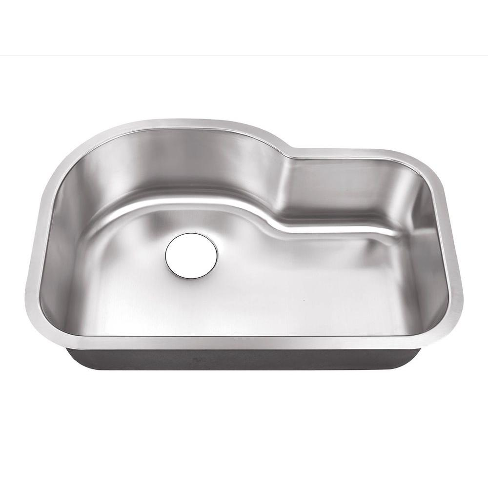 Belle Foret Undermount Stainless Steel 32 In. 0 Hole Single Bowl Kitchen  Sink BFSB3121   The Home Depot