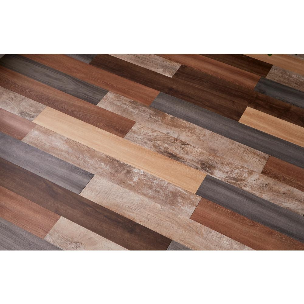 Versaplank Assorted Commercial 6 in. x 48 in. Peel and Stick Luxury Vinyl Plank Flooring (20 sq. ft. / case)
