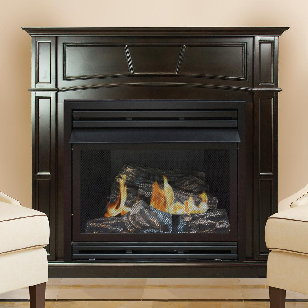 pleasant hearth 46 in full size vent free gas fireplace in
