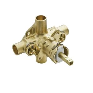 Moen Brass Rough-In Posi-Temp Pressure-Balancing Cycling Tub and Shower Valve with Stops - 1/2 inch CC Connection by MOEN