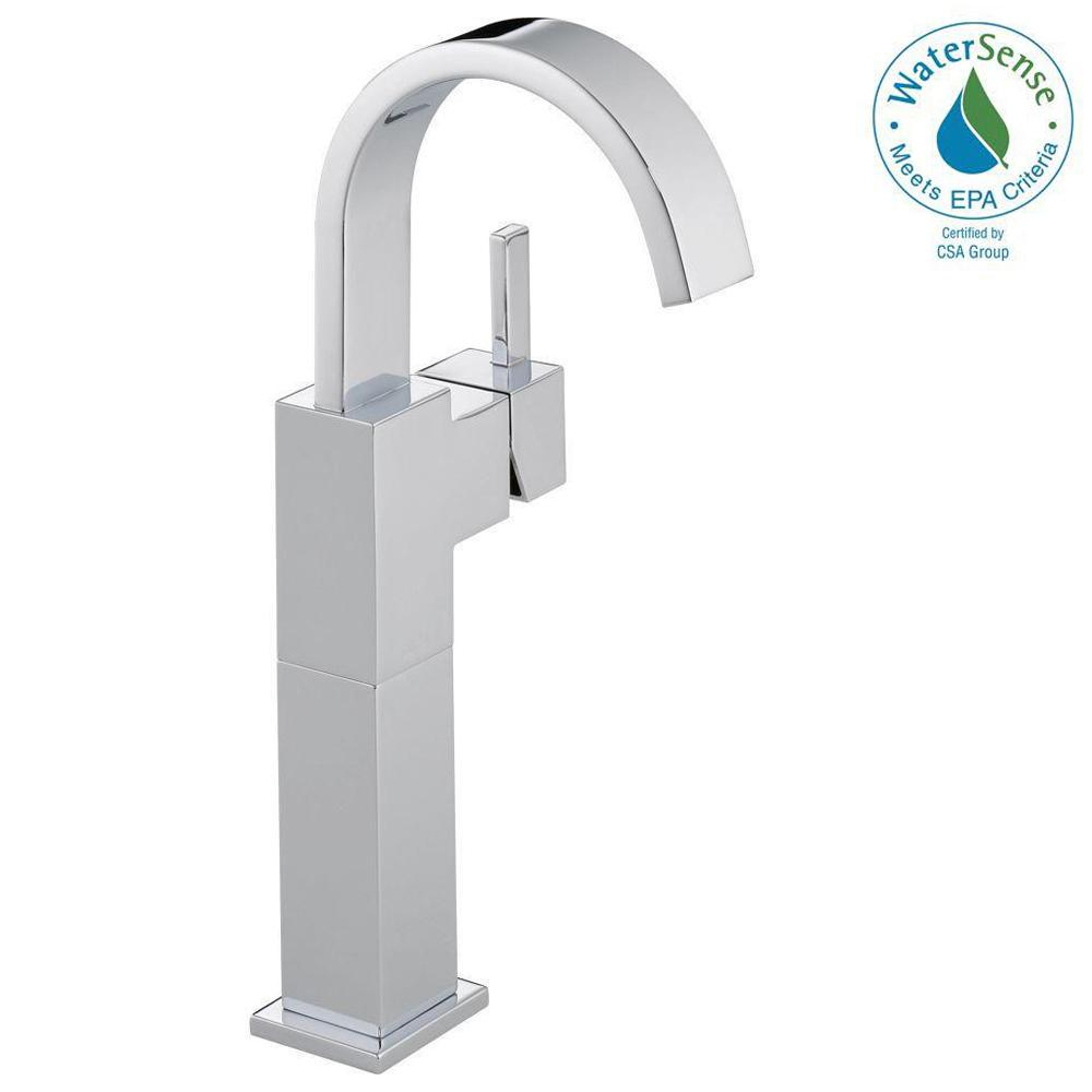 Vero Single Hole Single-Handle Vessel Bathroom Faucet in Chrome
