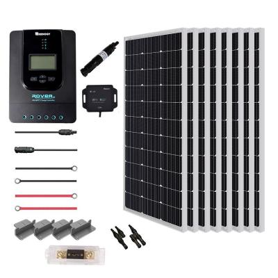 800-Watt 24-Volt Monocrystalline Solar Power Panel Premium Kit Off-Grid 40 Amp MPPT Controller