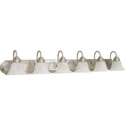 6-Light Brushed Nickel Bath Light