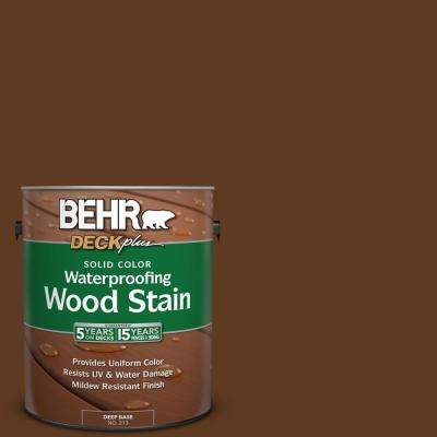 1 gal. #SC-129 Chocolate Solid Color Waterproofing Exterior Wood Stain