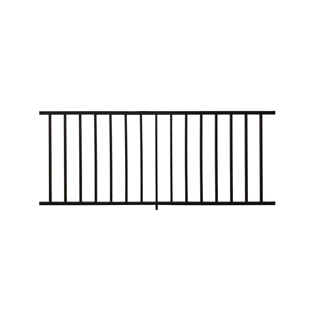 Weatherables Stanford Black 3.5 ft. H x 72 in. W Textured Aluminum Railing Kit