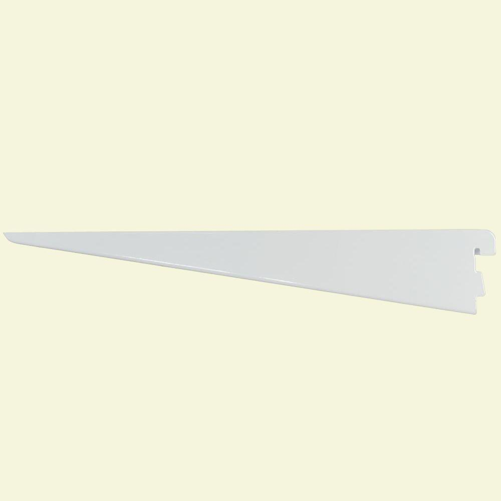 Rubbermaid 11.5 in. White Twin Track Bracket for Wood or Wire Shelving