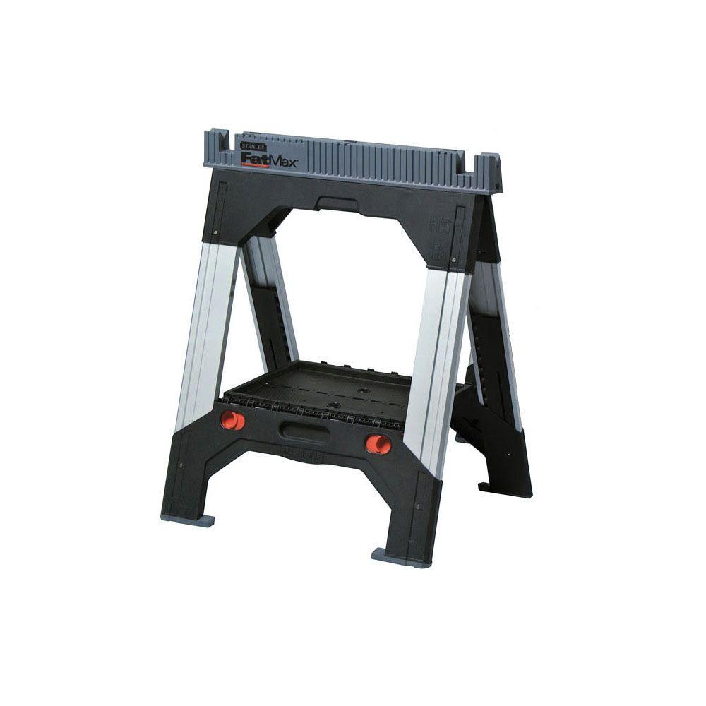 33 in. Plastic Adjustable Folding Sawhorse