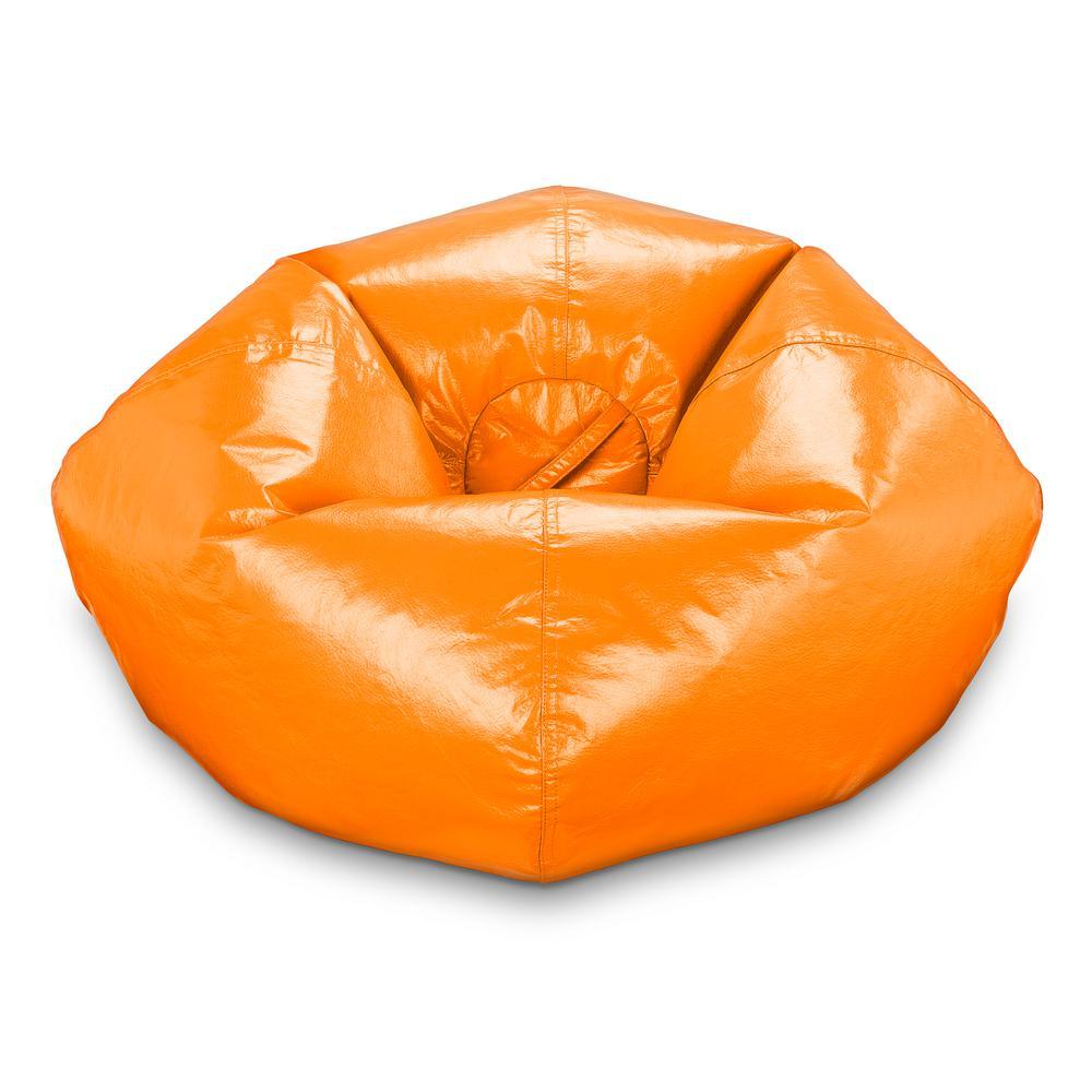 Orange Vinyl Bean Bag