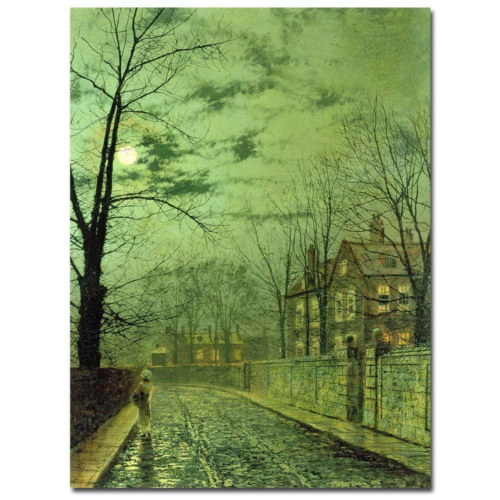 null 24 in. x 32 in. A Moonlit Road Canvas Art