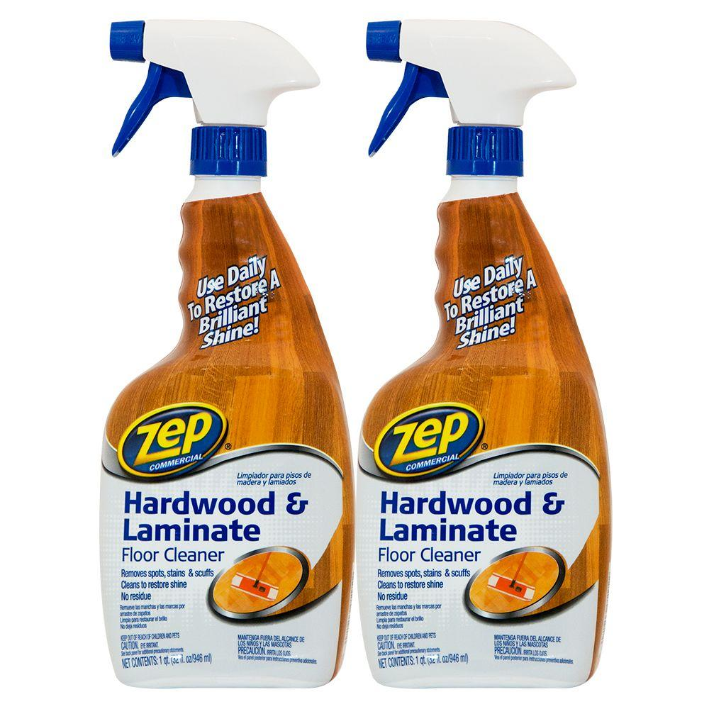 ZEP 32 oz. Hardwood and Laminate Floor Cleaner (2-Pack)-ZUHLF32VP ...