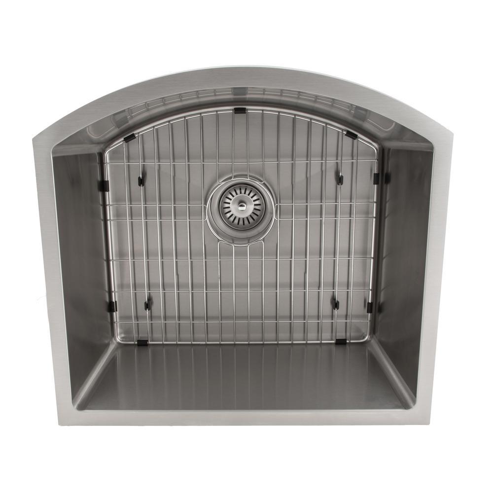 Gateway Series Undermount 22 in. Single Bowl Kitchen Sink in Stainless Steel