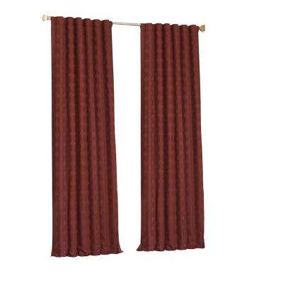 Adalyn Blackout Window Curtain Panel in Burgundy - 52 in. W x 95 in. L