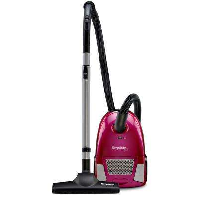 Canister Pink Subcompact Vacuum 10 Amp with Combo Floor Tool