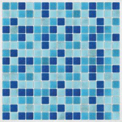 Light Blue Peel and Stick Decal Tiles