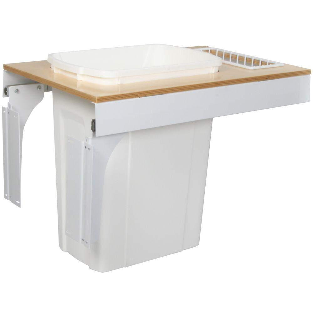 Knape & Vogt 17.5 in. x 14.5 in. x 23.19 in. In Cabinet Pull Out Soft Close Trash Can-DISCONTINUED