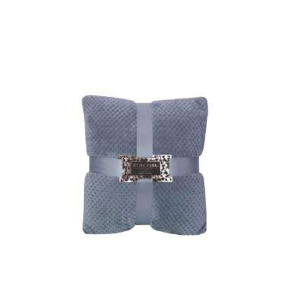 Jacquard Navy Velvet Decorative Pillow