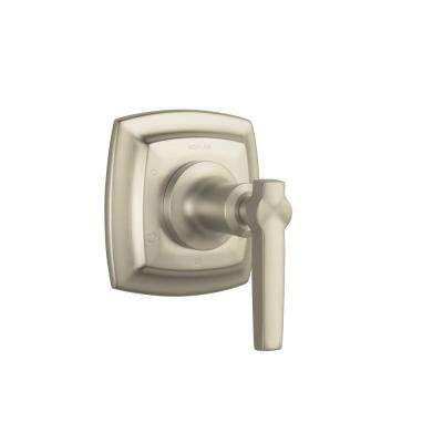 Margaux 1-Handle Transfer Valve Trim Kit in Vibrant Brushed Nickel with Lever Handle (Valve Not Included)