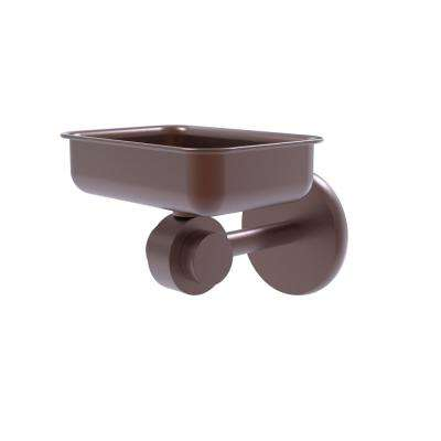 Satellite Orbit Two Collection Wall Mounted Soap Dish in Antique Copper
