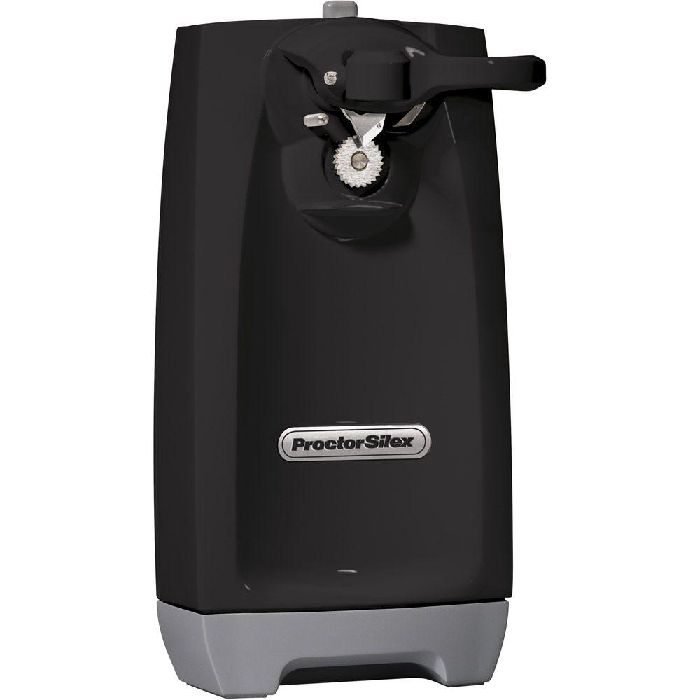 Proctor Silex Black SureCut Electrical Outlet Can Opener-DISCONTINUED